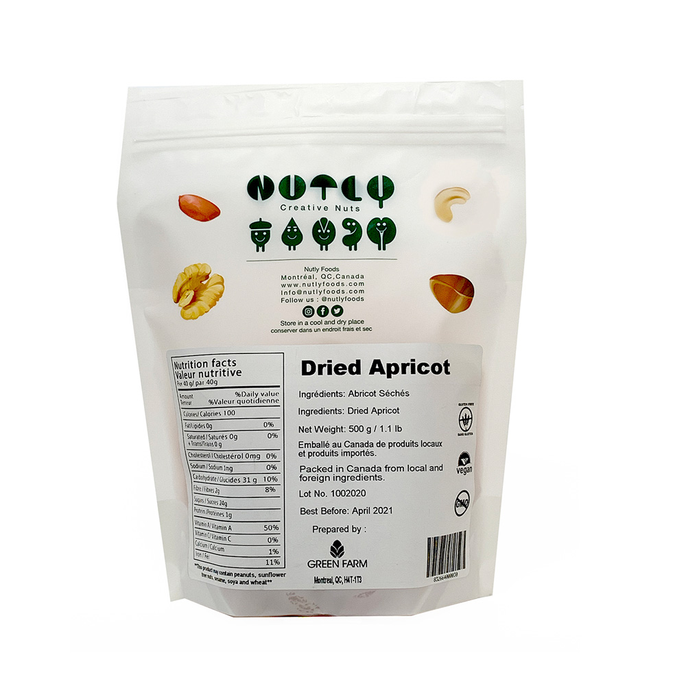 nutlyfoods dried apricot